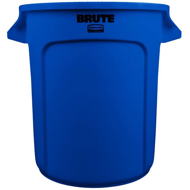 BRUTE 丸型コンテナ 38L (10ガロン) 青
