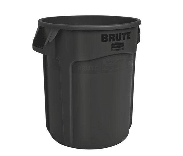 Vented BRUTE 丸型コンテナ 76L (20ガロン) 黒
