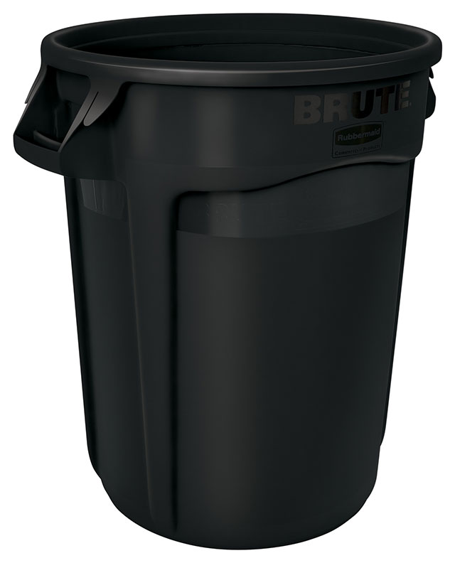 Vented BRUTE 丸型コンテナ 121L (32ガロン) 黒