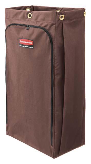 ハウスキーピングカート用布製バッグブラウン 114L (30ガロン)