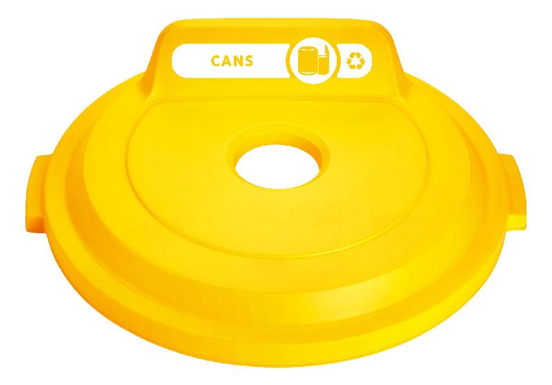 BRUTE コンテナ(121L) 32ガロン用ボトル缶゚フタ 黄