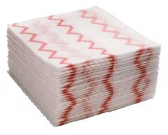 ディスポーザブルマイクロファイバークロス( 640枚入り) 赤