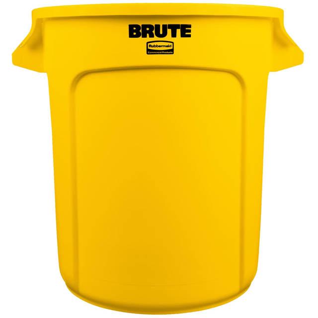 BRUTE 丸型コンテナ 38L (10ガロン) 黄