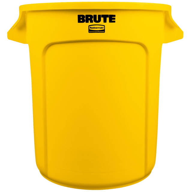 Vented BRUTE 丸型コンテナ 38L (10ガロン) 黄