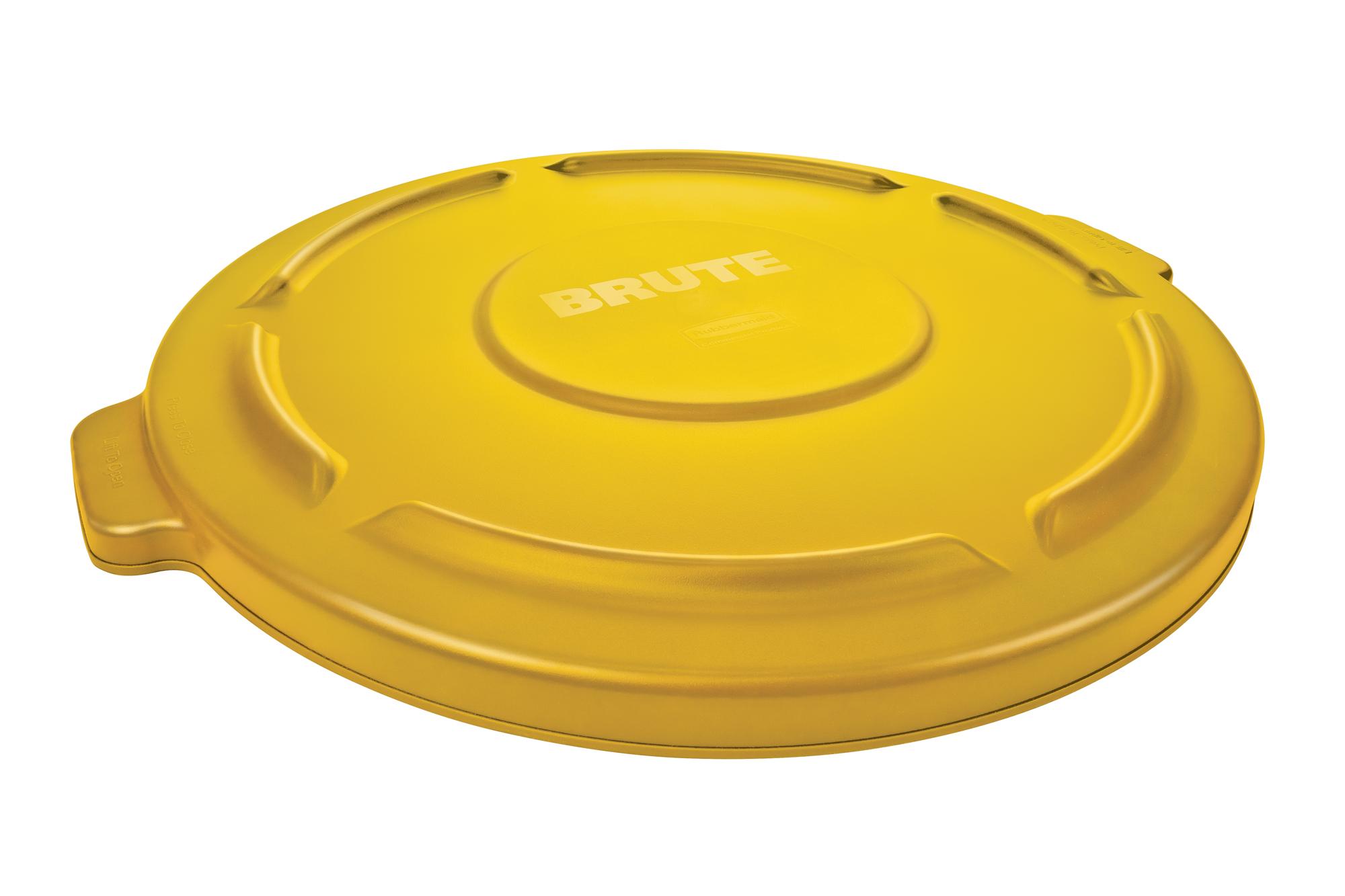 BRUTE 丸型コンテナ 76L (20ガロン)用フタ 黄