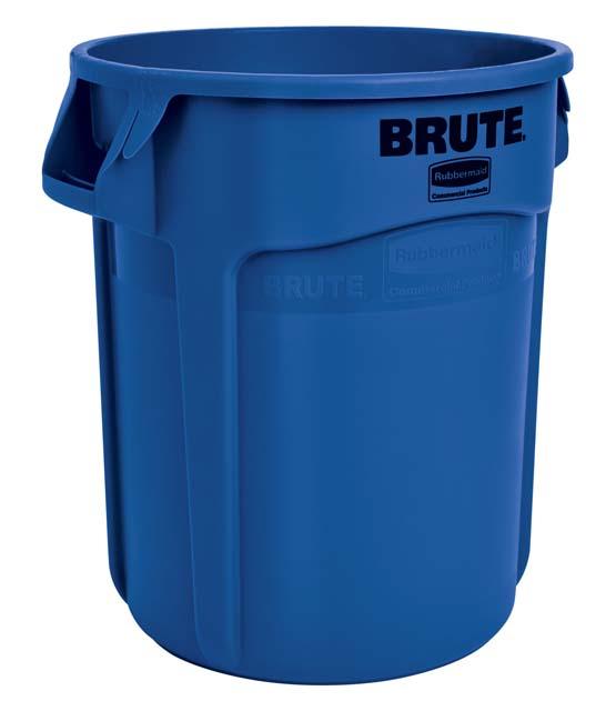 BRUTE 丸型コンテナ 76L (20ガロン) 青