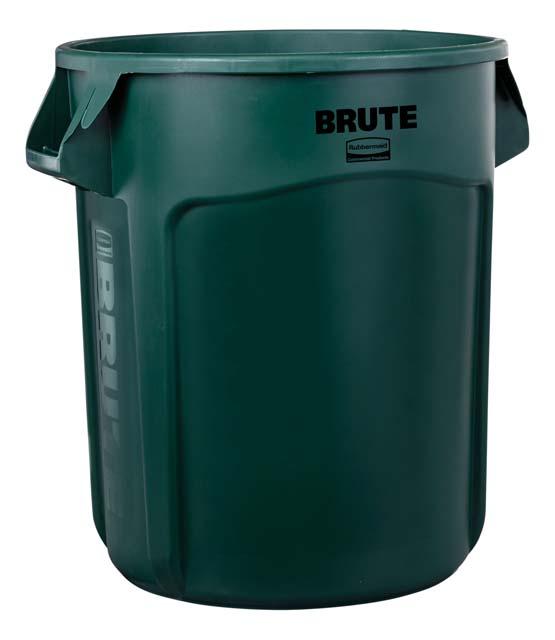 Vented BRUTE 丸型コンテナ 76L (20ガロン) 緑