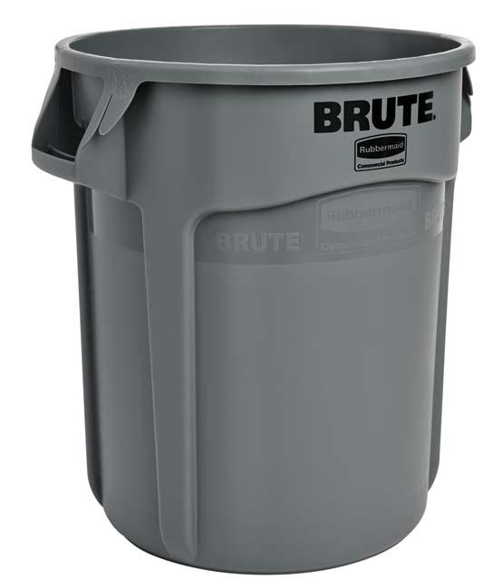 Vented BRUTE 丸型コンテナ 76L (20ガロン) グレー