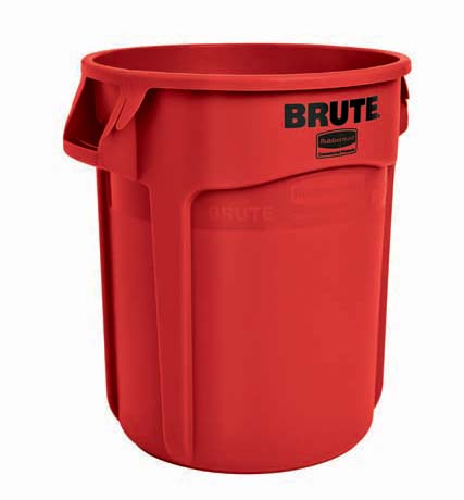 BRUTE 丸型コンテナ 76L (20ガロン) 赤