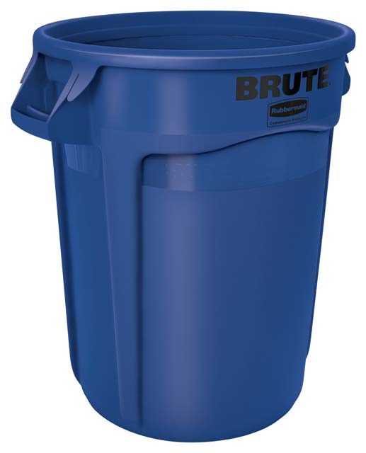 BRUTE 丸型コンテナ 121L (32ガロン) 青