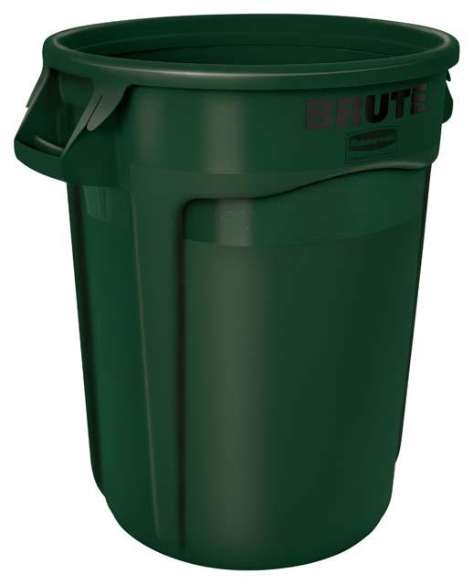BRUTE 丸型コンテナ 121L (32ガロン) 緑
