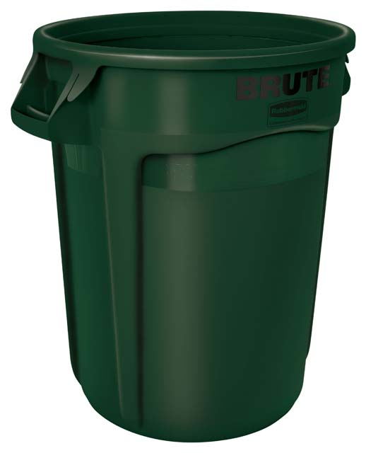 Vented BRUTE 丸型コンテナ 121L (32ガロン) 緑