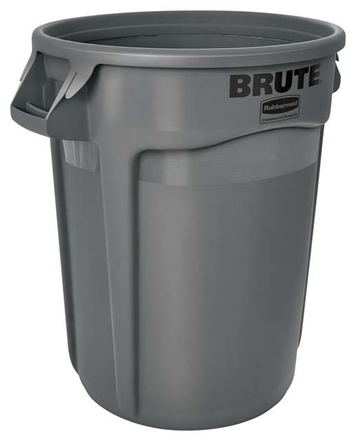 Vented BRUTE 丸型コンテナ 121L (32ガロン) グレー