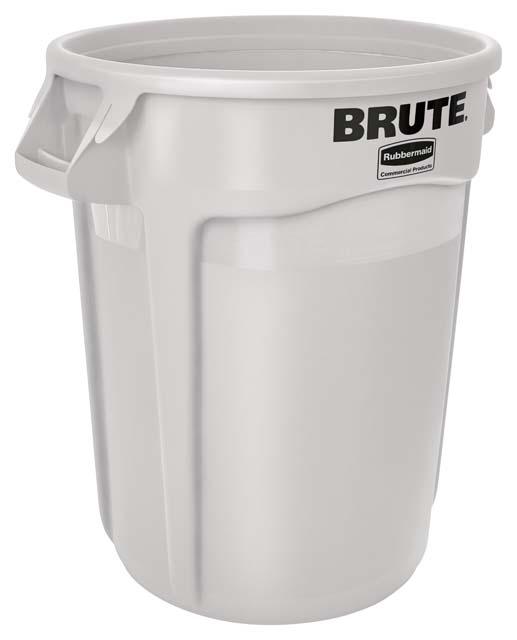 Vented BRUTE 丸型コンテナ 121L (32ガロン) 白
