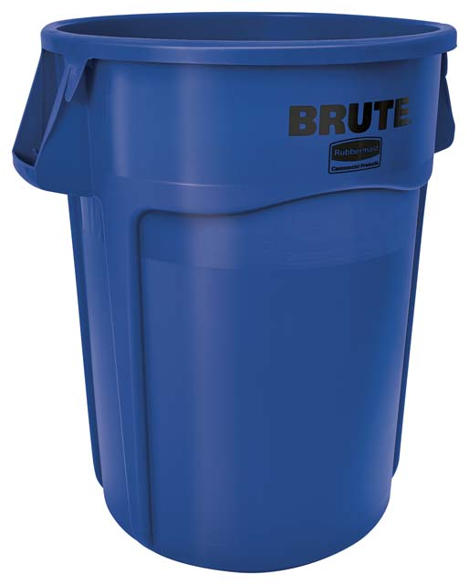 BRUTE 丸型コンテナ 166L (44ガロン) 青