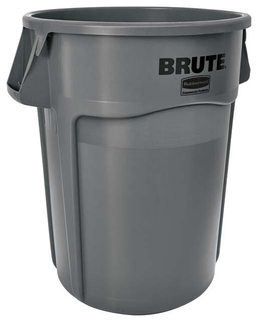 BRUTE 丸型コンテナ 166L (44ガロン) グレー