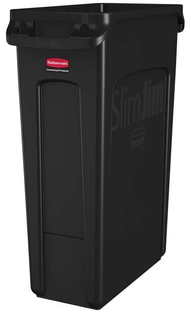 Vented Slim Jim コンテナ 87L (23ガロン) 黒