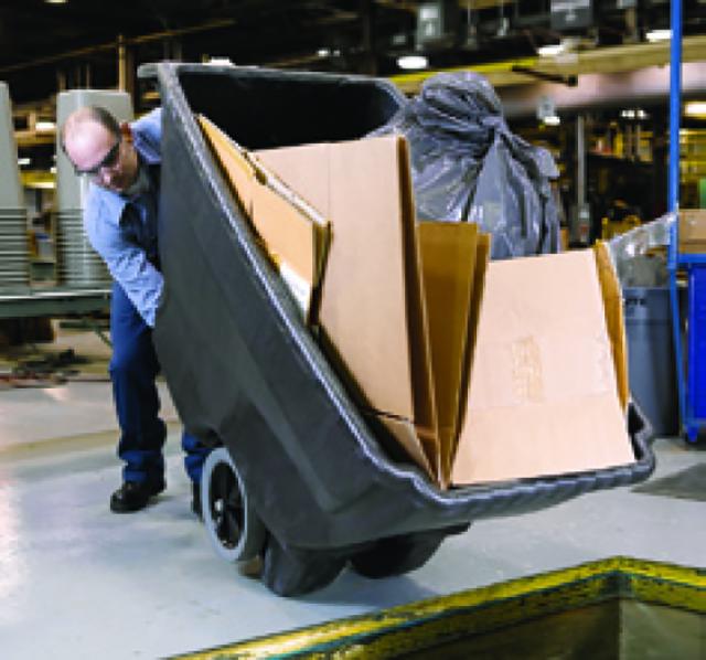 一人でも安定した廃棄作業が可能。