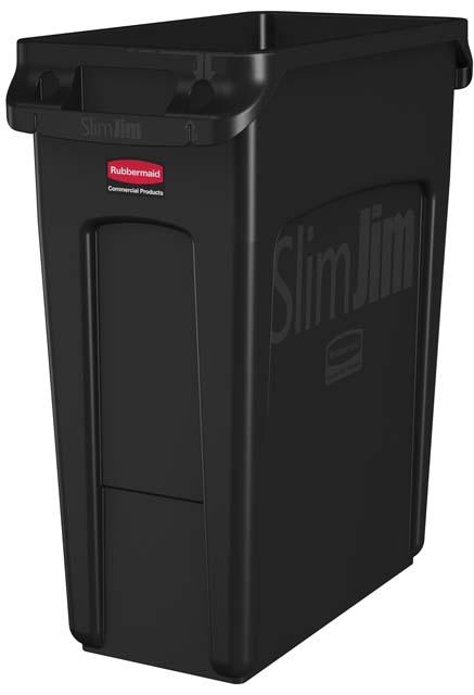 Vented Slim Jim コンテナ 60L (16ガロン) 黒