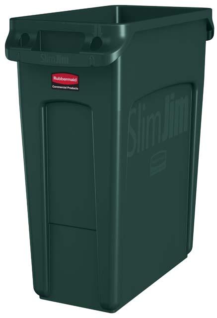 Vented Slim Jim コンテナ 60L (16ガロン) 緑