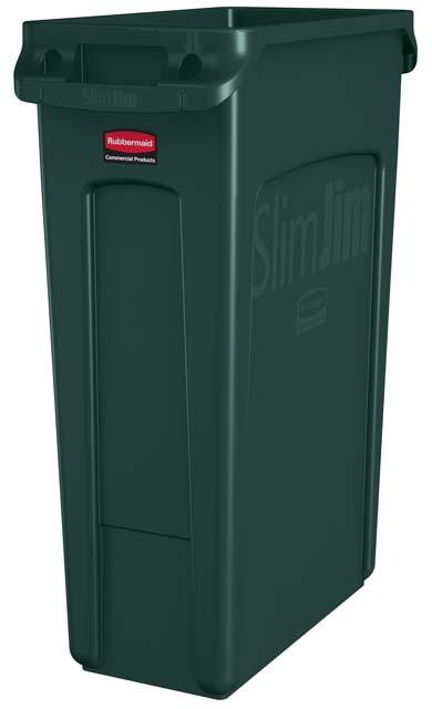 Vented Slim Jim コンテナ 87L (23ガロン) 緑
