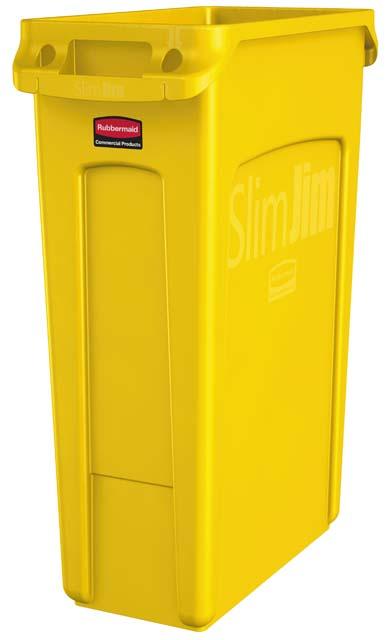 Vented Slim Jim コンテナ 87L (23ガロン) 黄